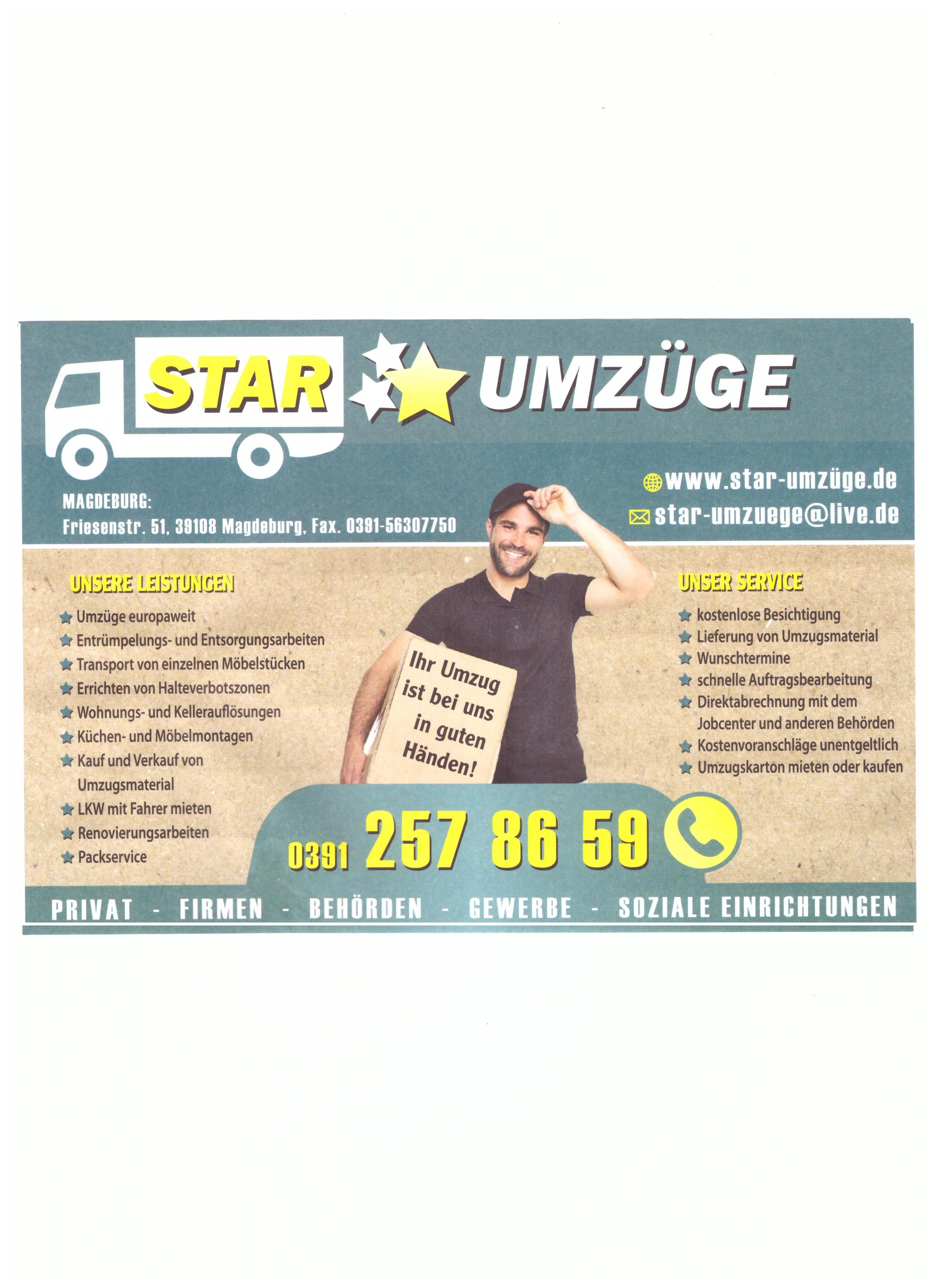 Star Umzuge Magdeburg 39108 Magdeburg Stadtfeld Ost