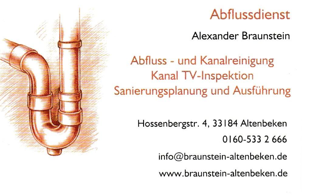 Abflussdienst Alexander Braunstein