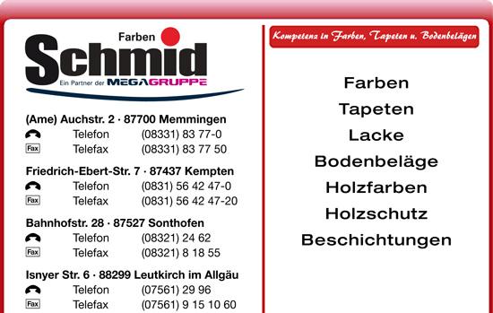 Farben Schmid Sonthofen.Schmid Robert Gmbh Co In Sonthofen 0832124